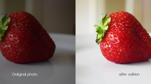 strawberry before after